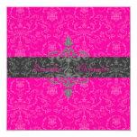 PixDezines Arianna Damask, diy color, hot pink Invite