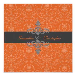 PixDezines Arianna Damask, diy color, Orange Spice Card