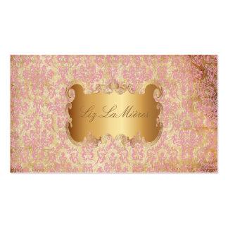 PixDezines arianna damask/faux parchment Business Card