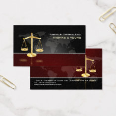 Pixdezines Attorney, Masculin /graphite+maroon Business Card at Zazzle