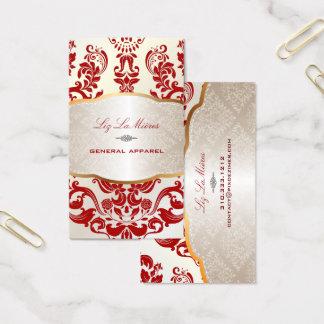 PixDezines augusta damask/red Business Card