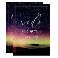 PixDezines Aurora Night Sky Invitation
