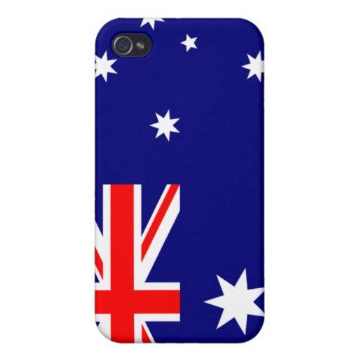 PixDezines Aussie Union Jack iPhone 4/4S Carcasa