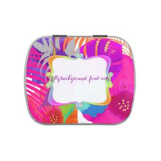 PixDezines bali kai retro floral/wedding favors Jelly Belly Candy Tin