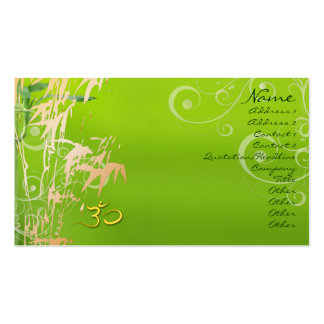 PixDezines Bamboo + pearly swirls Business Card Templates