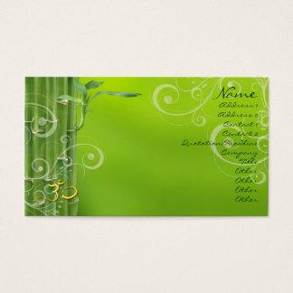 PixDezines Bamboo + pearly swirls Business Card