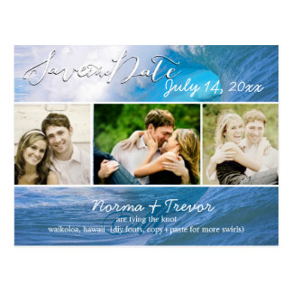 PixDezines banzai pipeline waves/save the date Postcard