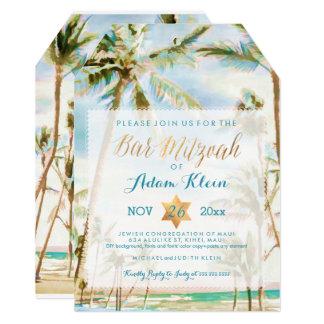 PixDezines Bar Mitzvah/Vintage Hawaii Card