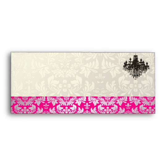 PixDezines Baroque Damask+Chandelier Envelope