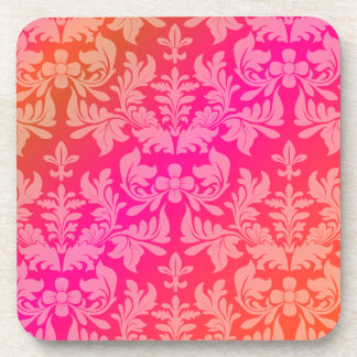PixDezines Baroque Damask/DIY background color Drink Coasters