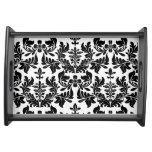 PixDezines baroque damask/DIY background Serving Trays