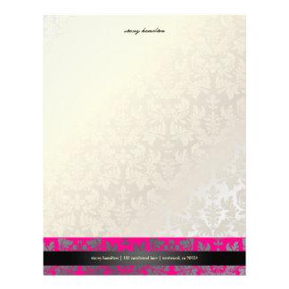 PixDezines Baroque Damask/hot pink Letterhead