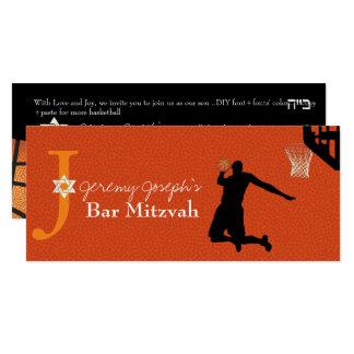 ✡ PixDezines Basketball Bar Mitzvah Card