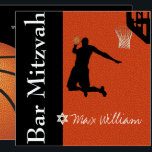 """✡ PixDezines Basketball Bar Mitzvah Invitation<br><div class=""""desc"""">Game On! Basketball theme Bar Mitzvah or Bat Mitzvah. All elements are customizable to your own ideas (i.e., fonts, background). Copy and paste for more balls. To view more of our basketball mitzvah, copy paste this URL: www.zazzle.com/pixdezines basketball mitzvah?rf=238007904023613149 ✡ Copyright © 2008-2016 PixDezines.com™ and PixDezines™ on Zazzle.com. All rights...</div>"""