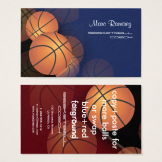 PixDezines Basketball cards/DIY background colors! Business Card