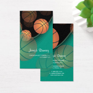 PixDezines Basketball Coach/DIY background color Business Card