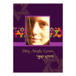 PixDezines Bat Mitzvah Photo + Psychedelic Stars Personalized Announcements