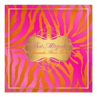 PixDezines Bat Mitzvah/zebra stripes Card