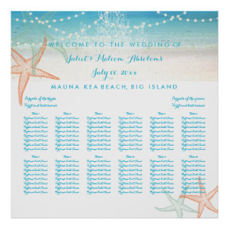 PixDezines beach/chadeliers/seating chart Posters