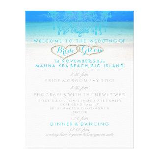 PixDezines beach/chandelier wedding program Canvas Print