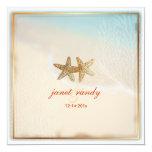 PixDezines beach+starfish+coral Personalized Invites