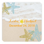 PixDezines Beach/starfish 5.25x5.25 Square Paper Invitation Card