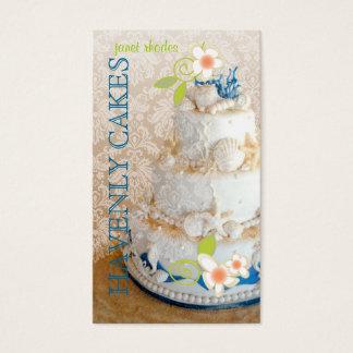 PixDezines Beach Wedding Cake/Bakery/pâtisserie Business Card