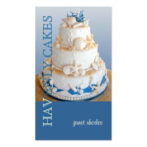 PixDezines Beach Wedding Cake/DIY background color Business Card Template
