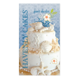 PixDezines Beach Wedding Cake/DIY background color Double-Sided Standard Business Cards (Pack Of 100)