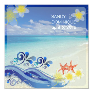 PixDezines beach wedding/dynamic design Card