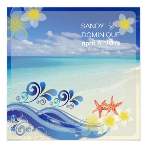 PixDezines beach wedding/dynamic design Custom Announcement