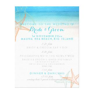PixDezines beach wedding program Canvas Print