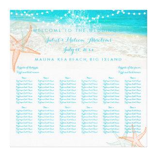 PixDezines beach/wedding seating chart Canvas Print