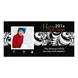 PixDezines Bellissimo Damask, christmas Card