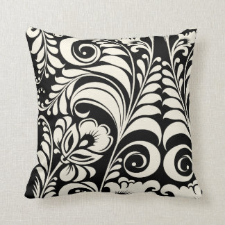 PixDezines bellissimo damask/diy background Pillows