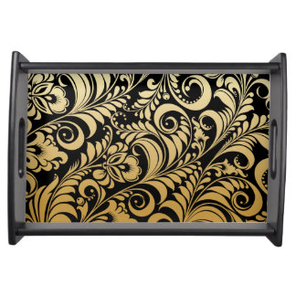 PixDezines bellissimo damask/DIY background Food Tray