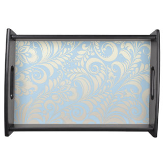 PixDezines bellissimo damask/DIY background Service Tray