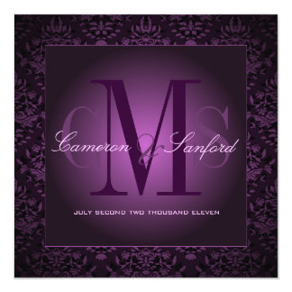 PixDezines BIJOUX DAMASK/DARK PURPLE/PLUM Card