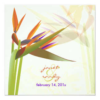 PixDezines bird of paradise/diy colors+fonts Invitation