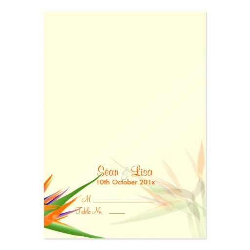 pixdezines bird of paradise tent place card business card templates zazzle