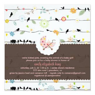 PixDezines Birds On Wires+Minidots baby shower/DIY Custom Invitation