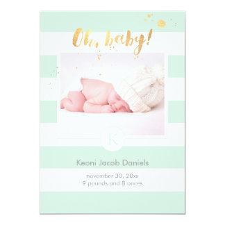 PixDezines birth announcement/DIYcolor stripes Card