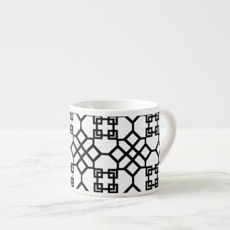 PixDezines black chinoise trellis/diy background Espresso Cup