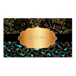 PixDezines black lace+teal cheetah Double-Sided Standard Business Cards (Pack Of 100)