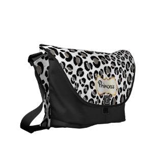 PixDezines Black Leopard/DIY background color Courier Bag