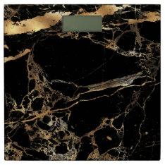 Pixdezines Black Marble+faux Gold Veins Bathroom Scale at Zazzle