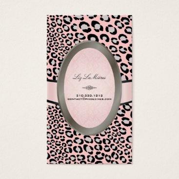 Professional Business PixDezines Black, White Leopard spots Business Card