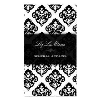 PixDezines Black+White Olivia Damask Business Card