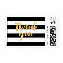 PixDezines black/white stripes/thank you Postage