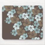 PixDezines blue hibiscus/diy background Mouse Pad